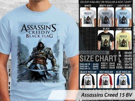 T shirt Assassins Creed Black Flag Many Color & Design Option - $10.99+