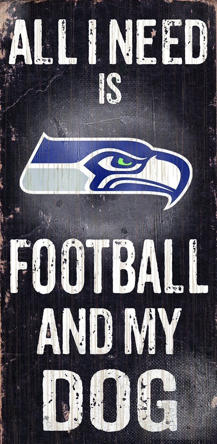 "SEATTLE SEAHAWKS FOOTBALL and my DOG WOOD SIGN and ROPE 12"" X 6""  NFL MAN CAVE!"