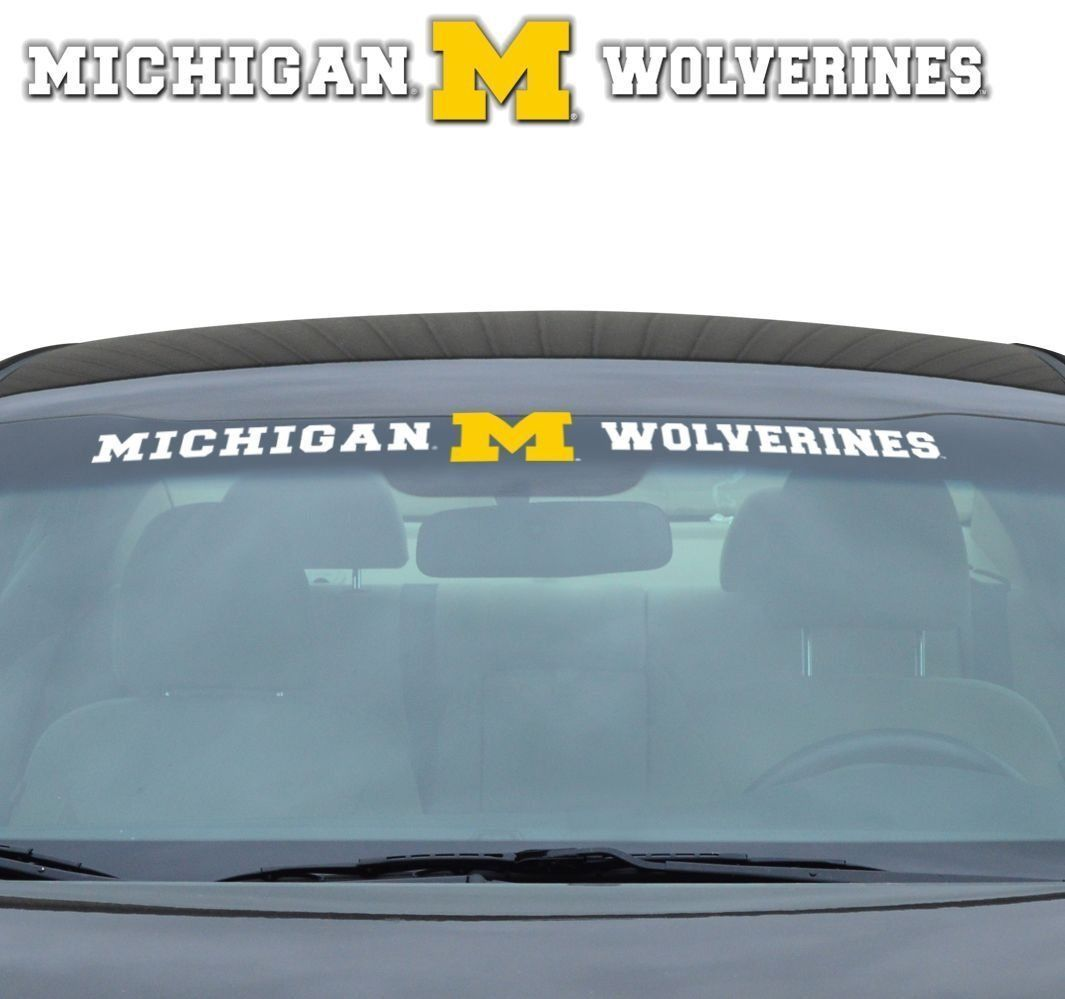 "MICHIGAN WOLVERINES 35"" X 4"" WINDSHIELD - REAR WINDOW DECAL CAR TRUCK NCAA"