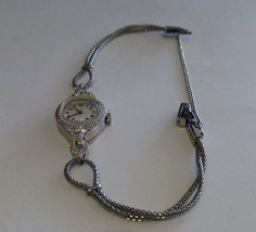 Vintage Platinum ladies Elgin Wristwatch 0.50 T... - $1,295.00