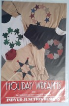 Holiday Wreaths No Sew Applique Designs Pattern... - $4.95