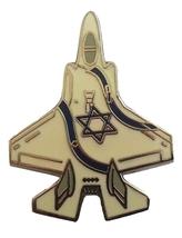 Israel airforce F-35 lightning airplane pin IDF independence jet badge w/ flag   - $12.50