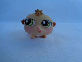 Littlest Pet Shop Tan Hamster Pink Flush Face #1477 Green Eyes  - $2.54
