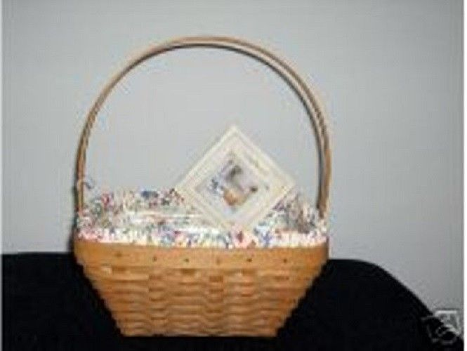 Longaberger 2003 Easter Basket Small Spring Floral SU Fabric Liner New In Bag
