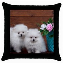 Cute Pomeranians Throw Pillow Case - Puppy Dog - $16.44