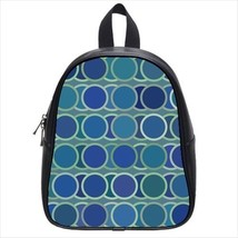 Geometric Circle Pattern Leather Kid's School Bag / Children's Backpack - $33.94+