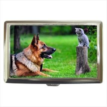 German Shepard Cigarette Money Case - Kitten Dog - $12.56