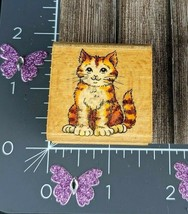 StampCraft 440D39 Rubber Stamp Tabby Kitty Cat Tiger Kitten #D20 - $3.96