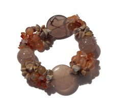 Dragon Veins Carnelian and Jasper Chip Stretch ... - $9.99