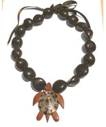 New Hawaiian Brown Kukui Nut with Wood Shell Tu... - $14.95