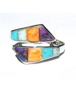 Turquoise Lab Opal Oyster .925 Sterling Silver ... - $31.99