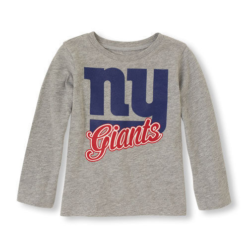 Primary image for NFL Team Apparel Toddler New York Giants Long Sleeve Shirt Size 9-12M NWT