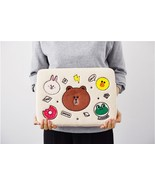 "LINE Friends Ivory Wappen Notebook Pouch 13"" Laptop Multi Character Bag ... - $59.82"