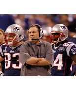 Bill Belichick Sideline New England Patriots Vintage 11X14 Color Footba... - $14.95