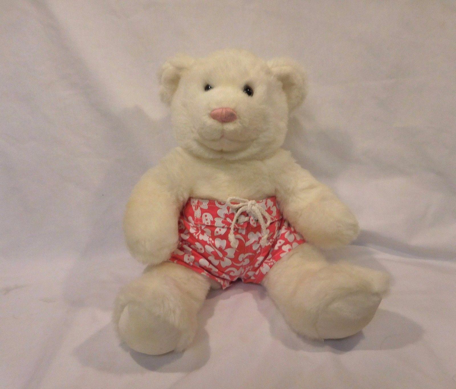 5b3a1e11f28 S l1600. S l1600. Previous. Build A Bear Workshop BABW Stuffed Plush White  Bear Pink Nose 14