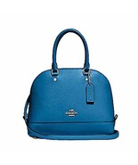 COACH MINI SIERRA SATCHEL F57555, SILVER/BRIGHT MINERAL - $148.00