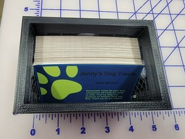 One 3D printed Plastic Milk Crate Business Card Holder, Display Stand St... - $9.89