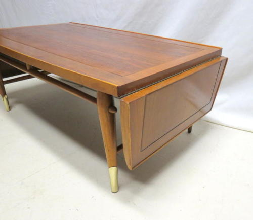 Lane Copenhagen Line Drop Leaf Coffee Table Mid Century Danish Modern  Walnut 56