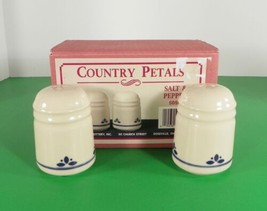 Friendship Pottery Roseville Ohio COUNTRY PETALS Salt and Pepper Shaker ... - $24.70
