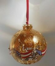 Signed Danbury Mint American Flag Christmas Ornament - $24.99