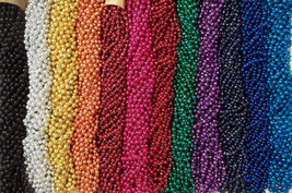 48 Mardi Gras Beads Nascar Party Favors 4 Dozen Lot - $13.92