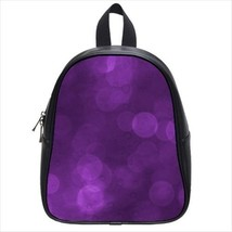 Purple Bubbles Leather Kid's School Bag / Children's Backpack - $33.94+