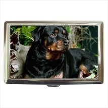 Rottweiler Cigarette Money Case - Puppy Dog - $12.56