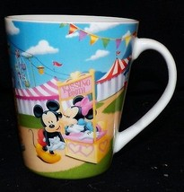 Disney Minnie Mickey Mouse Carnival County Fair Kissing Booth Coffee Cup... - $29.99