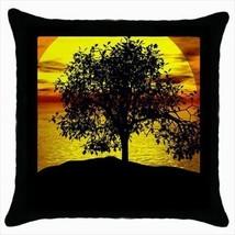 Sunset Tree Throw Pillow Case - $16.44