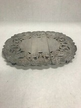 Vintage expandable trivet etched serving dining plate holder 8 by 13 inch - $39.59