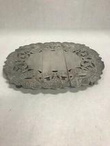 Vintage expandable trivet etched serving dining plate holder 8 by 13 inch - $39.59