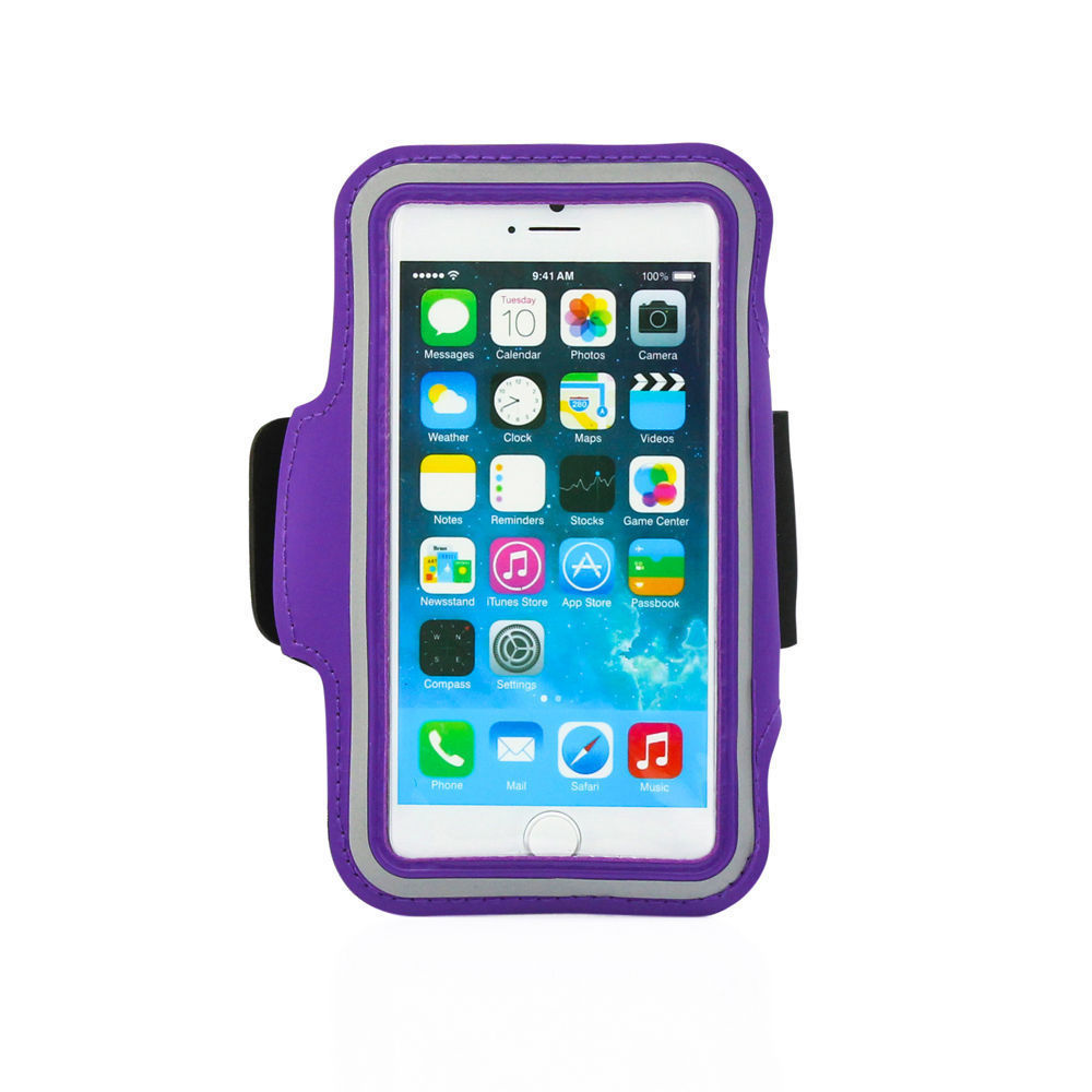 Sports Running Workout Armband Arm Band Case Neoprene Galaxy NOTE 3 4 Purple