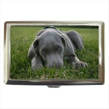 Weimaraner Cigarette Money Case - Puppy Dog - $12.56