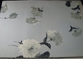 "Set of 4 Calvin Klein Placemats Painted Floral Lt.Blue-Gray 14"" x 19"" 10... - $41.53"