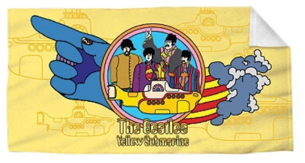 THE BEATLES YELLOW SUBMARINE BEACH TOWEL 30X60 INCHES 100% COTTON OFFICIAL OOP