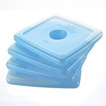 4 Square Reusable Blue Liquid Freezer Packs for Kids School Lunches / Lu... - $19.09