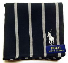 POLO Ralph Lauren Handkerchief hanky scarf bandana Black Striped Men Aut... - $23.76