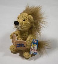 NWT RUSS BERRIE BAMBEANOS BOOK  BUDDIES LION KING OF BOOKS  BEANBAG PLUS... - $10.09