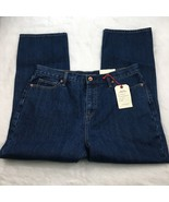 NWT Lands End Women's High Rise Straight Jeans Dark Wash - $24.04