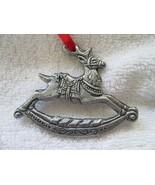 "1995 Carson reindeer rocking horse Christmas ornament 3 1/4"" - $15.00"