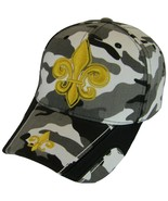 New Orleans Fleur De Lis Camouflage Men's Adjustable Baseball Cap (Black... - $12.98