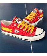 kc chiefs shoe women converse style chiefs sneakers Kansas city fans gif... - $54.90+