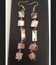 dangling shell reversible pierced earrings - $19.99