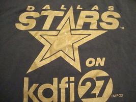 Vintage NHL Dallas Stars Hockey Texas KDFI Channel 27 TV Sponsor T Shirt XL - $16.82