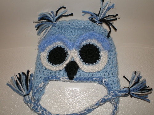 BABY BOY BLUE OWL PHOTO PROP HAT