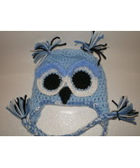 BABY BOY BLUE OWL PHOTO PROP HAT - $14.00