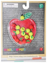 MADE FOR RETAIL 18pc PENCIL TOPPERS Ages 3+ RED+GREEN APPLES School Supp... - $3.60