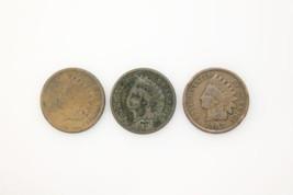 1907, 1887, & 1886 Indian Head Cent Pieces - See Description - $99.99