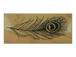 Stampendous 1997 Peacock Feather Rubber Stamp #N030 - $5.35