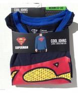 Superman Cool Johns Long Underwear S 28 30 Medium NEW Lounge Sleep Shirt - $18.00